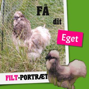 Få dit eget filt-portræt af høns eller fjerkræ