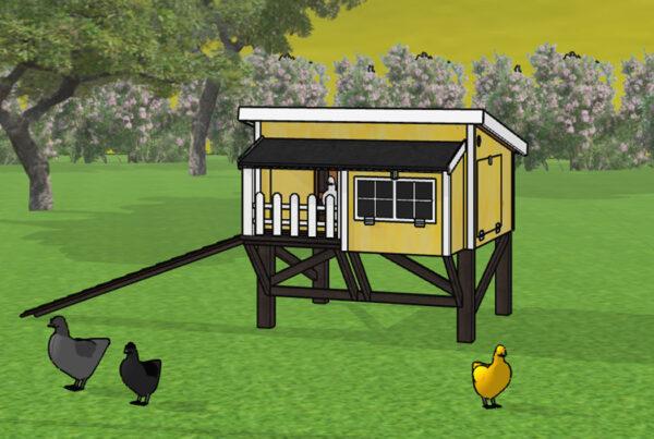 Silkehavens hønsehus model Minily eksklusiv gul