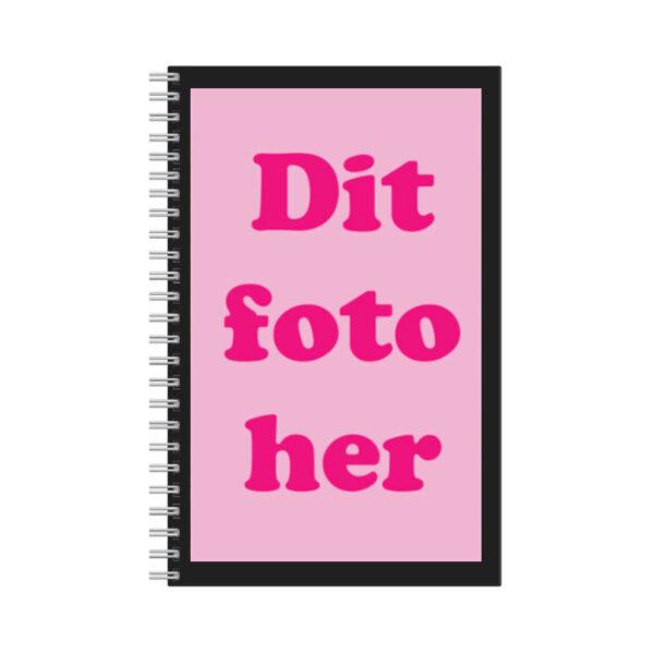 notesbog med eget foto
