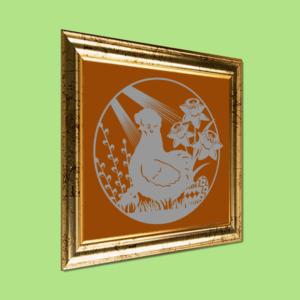 Papirklip - Påske - Silkehøne og kylling